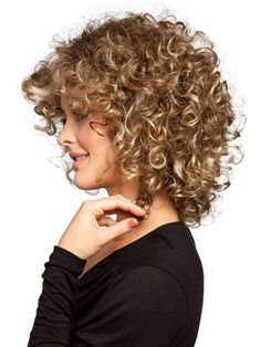 Image result for best product for naturally curly fine white woman hair