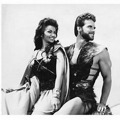 Steve Reeves and Chelo Alonso Steve Reeves, Barbarian, Hercules, Be Still, Che Guevara, Face, People, Movies, Beards