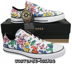 Converse All Star® Grateful Dead Bears Trainers Grateful Dead Quotes, Grateful Dead Tattoo, Grateful Dead Bears, Buy Shoes Online, Painted Shoes, Converse All Star, Me Too Shoes, Shoe Bag, Band Posters