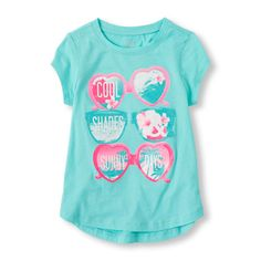 Girls Short Sleeve Graphic Active Top | The Children's Place