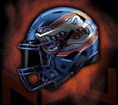Florida Gators New Football Helmets Football Helmet Design, College Football Helmets, Buccaneers Football, Florida Gators Football, Nfl Football Teams, Football Uniforms, Best Football Team, Fla Gators, Football Season