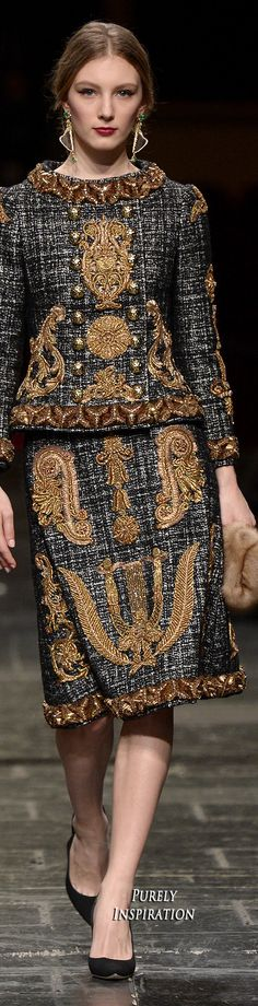 Dolce & Gabbana 2016 Alta Moda Collection | Purely Inspiration