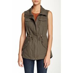 Sebby Utility Vest ($40) ❤ liked on Polyvore
