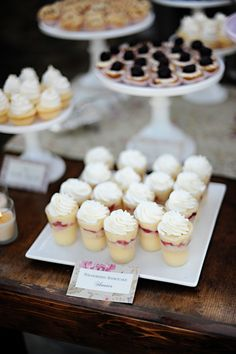 Mini Strawberry Shortcake Shooters for Eat Pink & Be Married