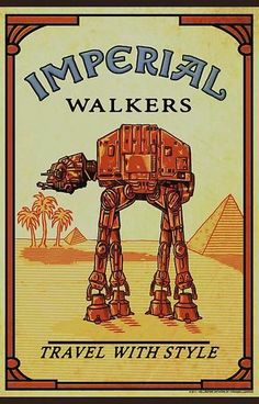 Imperial Walkers travel with style #camel