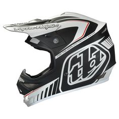 Troy Lee Designs Air Lite Motocross Helmet - Delta Matte Black White - 2014 Troy Lee Motocross Helmets - 2014 Troy Lee Mx Gear
