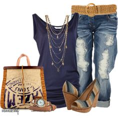 """""""Jeans and a Tank - My Way"""" by wannabchef on Polyvore"""