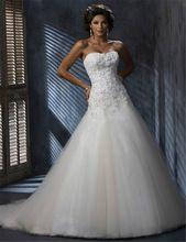 Atacado Strapless Tulle querida Appliqued vestido de noiva vestido frete grátis alishoppbrasil