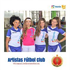 Artistas Fútbol Club #Femenino #FútbolConSentidoSocial Teleton 2015