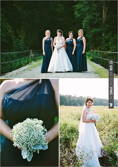 black bridesmaid dresses by Wtoo | CHECK OUT MORE IDEAS AT WEDDINGPINS.NET | #bridesmaids
