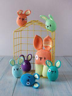Lanukas: Ovoconejos de pascua. Интересные крошки-игрушки в японском стиле