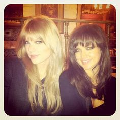 Taylor Swift going Bridgette Bardot. I think it's about time I try out these bangs myself.