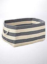 Rectangle Soft Storage - woven storage basket | Solutions.com