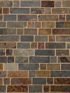 Rusty Brown Slate Mosaic Backsplash Tile For Traditional Kitchen – Backsplash Tile Kitchen Mosaic, Kitchen Tiles Design, Rustic Kitchen Design, Tile Design, Country Kitchen, Slate Backsplash, Kitchen Backsplash, Kitchen Cabinets, Dark Cabinets