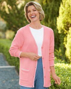 National Stripe Trim Cardigan Sweater National. $19.95