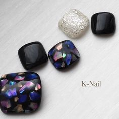 Pedicure Designs, Manicure Y Pedicure, Toe Nail Designs, Pretty Pedicures, Pretty Nails, Gelish Nails, Diy Nails, Nail Charms, Nail Jewels