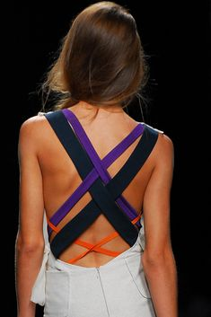 Multi colored strapped back. Awesome idea