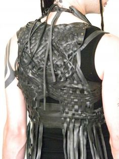 Here you go, Pea, for the intimidation    Raising Hell recycled rubber vegan by BenneGezerittDesigns on Etsy, $275.00