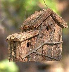 Tree Bark Birdhouse