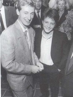 Wayne Gretzky and Michael J. Fox.