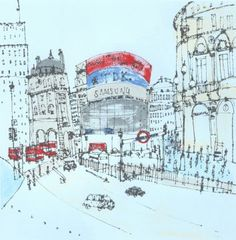 Piccadilly Circus, London, Clare Caulfield