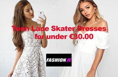Teen Skater dresses available to buy online from Irish fashion website, Fashion.ie. Teen dresses from Airydress and Boohoo
