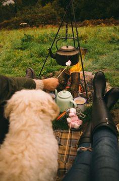 Roasting marshmallows by the fire #FallHarvest #HallmarkChannel