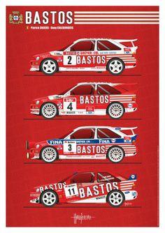 Escort Bastos Ford Rs, Car Ford, Sport Cars, Race Cars, Carros Suv, Car Prints, Old American Cars, Racing Car Design, Rally Car