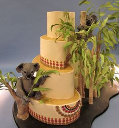 Australian themed wedding cake