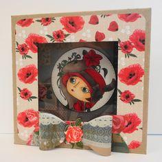 Amanda Stokes - Box Frame -Verity Rose - Moonstruck Acrylic stamp - Spectrum Noir pens: BG10, BG8, BG6, TN2, FS3, FS2, DR7, DR5, DR1, DG4, DG3 - 6X6 Luxury paper pad - Verity Rose CD-ROM: Bow embellishment - Collall 3D Glue Gel - Collall Tacky Glue - Kraft card - Neenah card - Big Score - #crafterscompanion #spectrumnoir