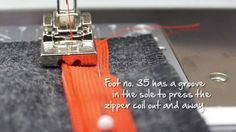 Tutorial: how to sew in an invisible zipper with the BERNINA zipper foot... BerninaInternational