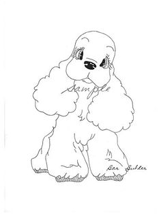 Original Ink Drawing Cocker Spaniel Cutest Ever !!! Signed by Barbara Butler | eBay
