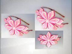 Ободок канзаши. Ободок из атласных лент Канзаши. Kansashe's headband. Kanzashi flowers - YouTube