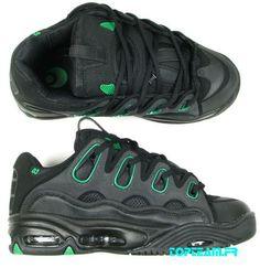 Chaussures Osiris D3 black green 40