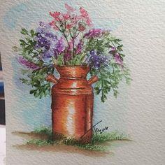 love this pot #artimpressions #watercolor #watercolortheartimpressionsway