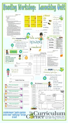 TEACHERS - this is a HUGE find! Complete Reading Launch Unit FREE from The Curriculum Corner | 20 lessons | printables | anchor charts