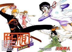 Kubo Tite, Bleach, All Colour But The Black, Orihime Inoue, Ichigo Kurosaki Bleach Manga, Inoue Orihime, Kuchiki Rukia, Studio Ghibli Wallpaper, Manga Anime, Anime Art, Kubo Tite, Air Gear, Bleach Blonde