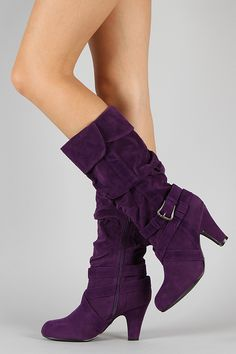 Qupid Praise-10X Suede Slouchy Knee High Boot $29.20