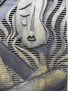 Totally looks like metal. Cardboard relief tiles.