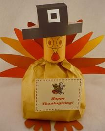 Last year I cut out everything needed to make this turkey (the head is a toilet paper roll) then I made it into a treasure hunt of where to find the pieces. When they were all found my 4 year old got to put it together. She loved it. We also make a snowman for Christmas.