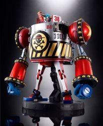 Le tant attendu General Franky est enfin là. Le Mecha impressionnant pour les fans de One Piece et tous les dérivés du dessin animé célèbre. Cette figurine de 23 cm (énorme) est présenté dans un superbe coffret comprenant 2 figurines, Franky et Tony Choper, ainsi que du Mecha géant Iron Pirate Franky Shogun, la moto 3 roues Black Rhino et le Brachio tank V et quelques accessoires... En fusionnant la moto et le tank, on obtient Iron pirate Franky !
