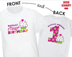 Cupcake first birthday shirt / first birthday by OhSewPersonalized