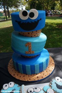 Cookie Monster Party cake