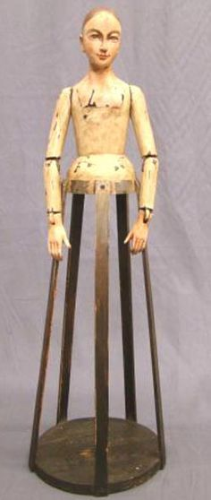 Wood Doll | French Cage Moveable Jointed Arms 28
