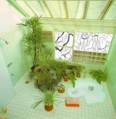 truejrblue: Some drawings I did for a led light window collaboration Interior Architecture, Interior And Exterior, Retro Interior Design, Earth Homes, Vintage Bathrooms, Vintage Interiors, Aesthetic Rooms, My New Room, My Dream Home