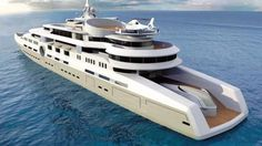 Most Expensive Yachts The most expensive luxury yacht in the world has a heli-pad, submarine, hangar for small aircraft, and a squash c. Yacht Design, Boat Design, Cool Boats, Used Boats, Most Expensive Yacht, Yachting Club, Big Yachts, Private Yacht, Private Jet