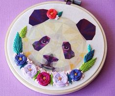 My Owl Barn: Hand Embroidery Around Geometric Animal Designs