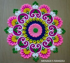 Rangoli Designs Flower, Rangoli Designs Diwali, Diwali Rangoli, Rangoli Designs With Dots, Beautiful Rangoli Designs, Kolam Designs, Bead Embroidery Patterns, Beaded Embroidery, Rangoli Photos