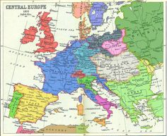 A coloured map of Napoleonic Europe.