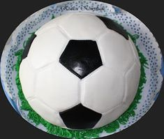 Soccer Ball, Cake, Ideas, European Football, Kuchen, European Soccer, Soccer, Thoughts, Torte